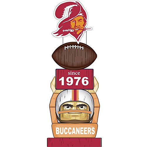 (Team Sports America Tampa Bay Buccaneers Vintage NFL Tiki Totem)
