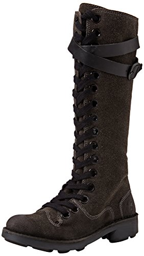 Fly London Neli - Botas Militares Mujer Marrón (Diesel/Black 007)