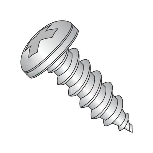 "#2 x 5/16"" Type AB Self-Tapping Screws/Phillips/Pan Head / 18-8 Stainless Steel (Carton: 5,000 pcs) 41FcBRDdoNL"