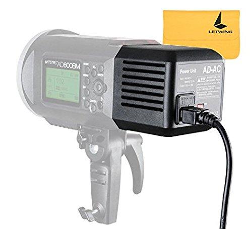 Godox AD600 AD-AC Power Source Adapter with 16.4'/5m Cable For Godox AD600 AD600B AD600M AD600BM Flashpoint XPLOR 600 Flash Monllights Strobe Lights by Godox