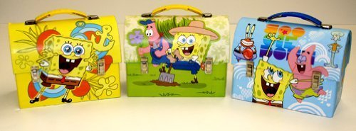Spongebob Squarepants Workman-Style Metal Lunch (Spongebob Activity Kit)