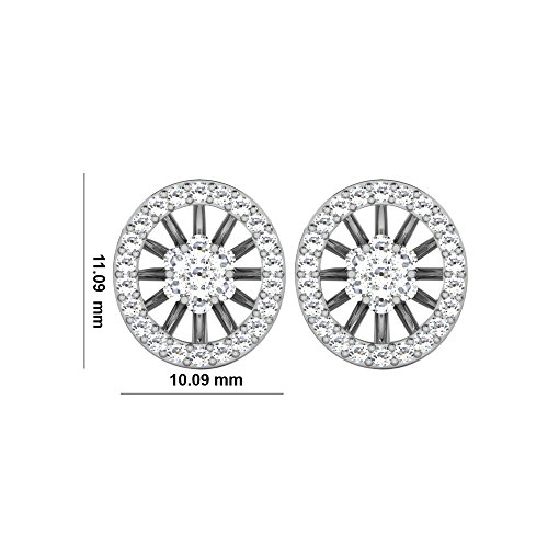 Libertini 0.65 Cts Diamond Earrings in 14KT White Gold (GH Color, PK Clarity)