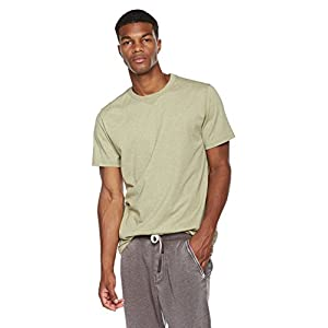 Rebel Canyon Young Men's Heather Jersey Short Sleeve T-Shirt with Contrast Side Notch X-Large Lt. Olive Heather