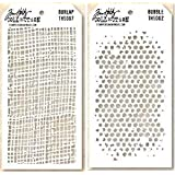 Tim Holtz Layering Stencils Duo Pack ~ Burlap & Bubbles!!!