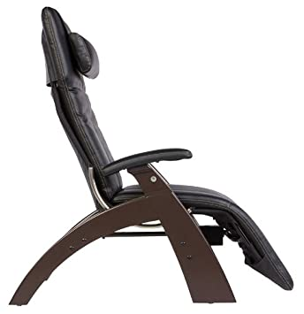 Amazon.com: Human Touch PC 300 Perfect Chair Electric Power Recline Wood  Base Zero Gravity Recliner   Dark Cacao Wood   Black Vinyl   Standard  Ground ...