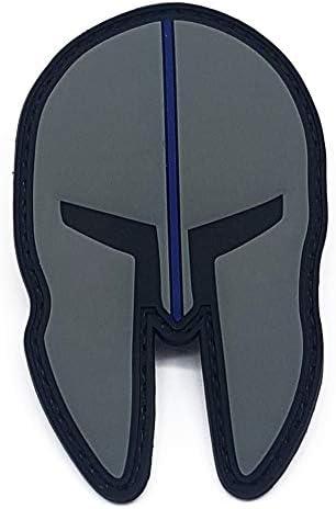 Policía Memes Shop Thin Blue Line spartiat PVC Patch: Amazon.es: Coche y moto