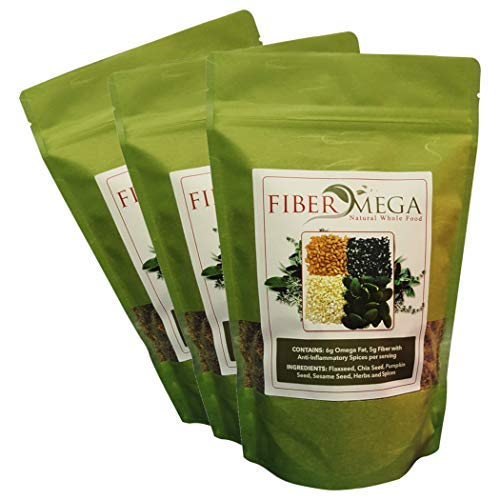 All-in-One Prebiotic Fiber and Detox |Organic Premium Flax & Chia Seeds | Constipation and Bloating Relief |All-Natural Whole Fiber | 5g Fiber and 6g Omega-3 Fats per Scoop | 3lb- 3 Month Supply