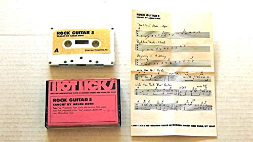 Arlen Roth HOT LICKS ROCK GUITAR Set of 6 Audio Cassette Tapes - Hot Licks Instructional Tapes - A USED SET OF 6 AUDIO CASSETTES - THIS IS NOT A CD ...