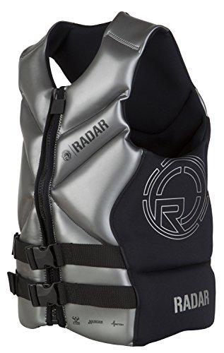 RADAR X-CGA - Front Zip Life Vest - Black / Titanium - (Titanium Vest)