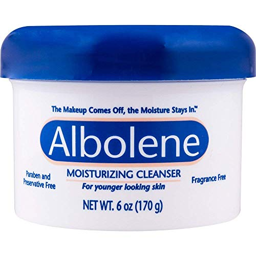 Albolene Moisturizing Cleanser | Removes Makeup While Keeping the Skin Hydrated and Healthy | Preservative and Fragrance Free | 6 Oz