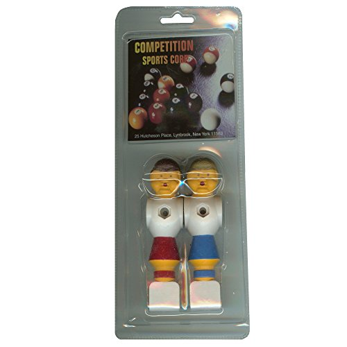 Competition Sports Clam Pack 1 Red and 1 Blue Old Style Foosball Man Player Fits 5/8 inch Rods