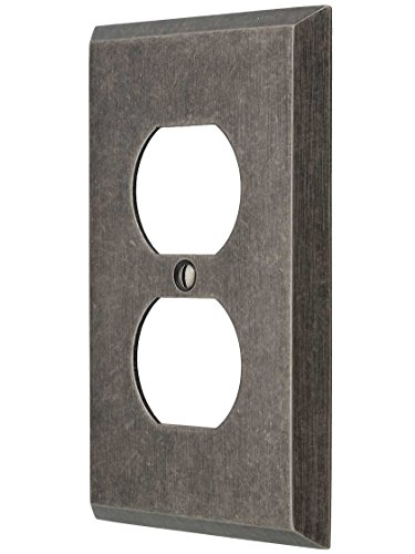 House of Antique Hardware R-010II-212 Industrial Single Duplex Cover Plate with Galvanized Finish