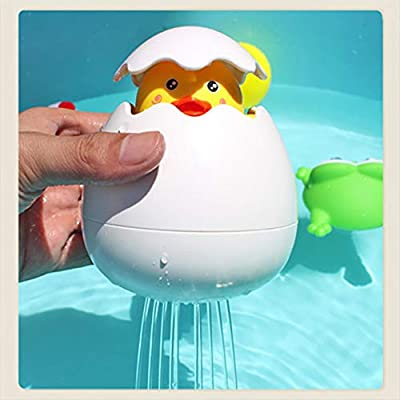 BBwin Baby Bathing Toy Kids Cute Duck Egg Water Spray Sprinkler for Bathroom Shower Swimming: Toys & Games