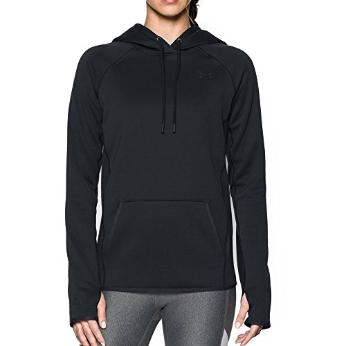 Under Armour Womens Armour Fleece Hoodie,Black (001)/Black,Large (Black Storm Jacket)