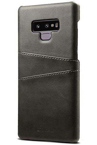 Galaxy Note 9 Card Case, XRPow Synthetic Leather Wallet Case with Slim Professional Executive Snap On Cover with 2 Card Holder Slots for Samsung Galaxy Note 9