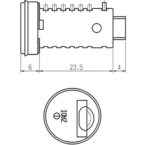 5X Steckzylinder Zylinder Schl/üssel Schloss Wohnwagen Wohnmobil Caravan Boot STS-System und ZADI rot