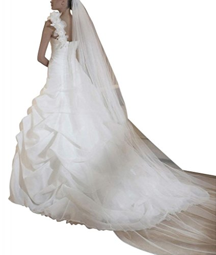 Elfenbein mit up Elegante BRIDE GEORGE der auf Schulter Ballkleid Blume Pick Handmade BAnO6nqx