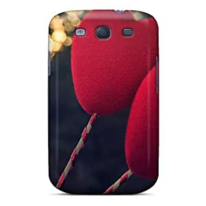 Galaxy S3 Case Cover - Slim Fit Tpu Protector Shock Absorbent Case (2 Lonely Hearts) by icecream design