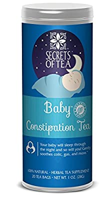 Baby Organic Constipation Relief tea Anti-Colic Calm Tea - Baby Tea Soothes Acid Reflux, Newborn Tummy Digestion, Promotes Better Sleep - Safe & Healthy Colic Relief Tea