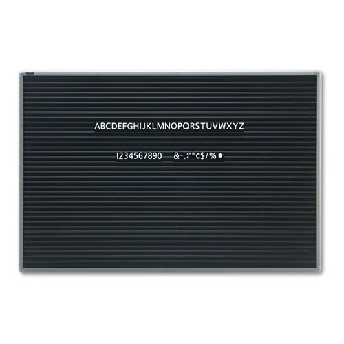 Quartet® - Magnetic Wall Mount Letter Board, 36 x 24, Black, Gray Aluminum Frame - Sold As 1 Each - Create attractive signage with easy-to-change magnetic lettering. by Quartet
