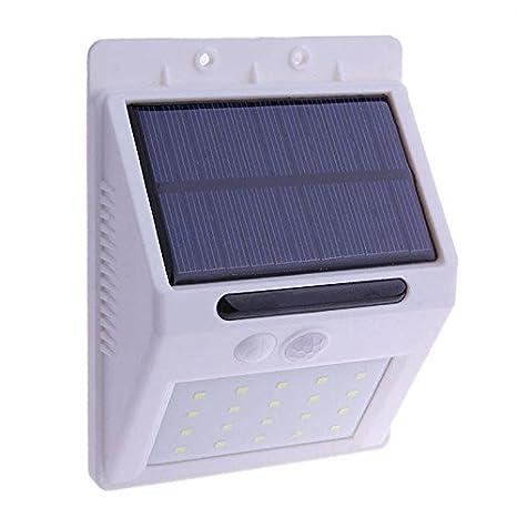 Chao Liang Luces De Jardín Solar Led Blanco Luz Solar 20 Leds Sensor De Movimiento Lámparas
