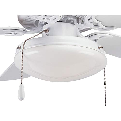 Progress Lighting P2611-30 2-Light Kit with White Opal Glass for Use with P2500, P2501 and P2502 Ceiling Fans, White from Progress Lighting