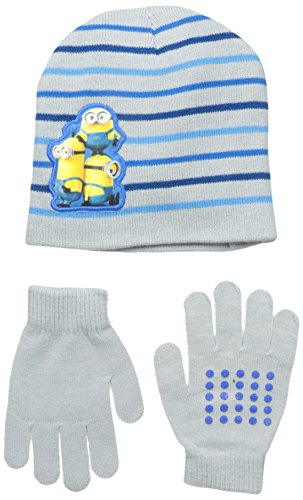 Despicable Me Little Boys' Yellow Friends Beanie and Glove Set, Multi, One -
