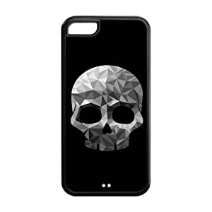 Phone Cases, Diamond Skull Hard TPU Rubber Cover Case for ipod touch4