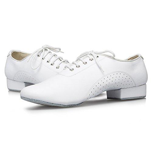 Miyoopark , Herren Tanzschuhe , weiß - White-2.5cm heel - Größe: 40