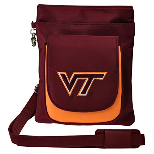 Charm14 NCAA Virginia Tech Hokies Crossbody Purse-Handbag-Travel
