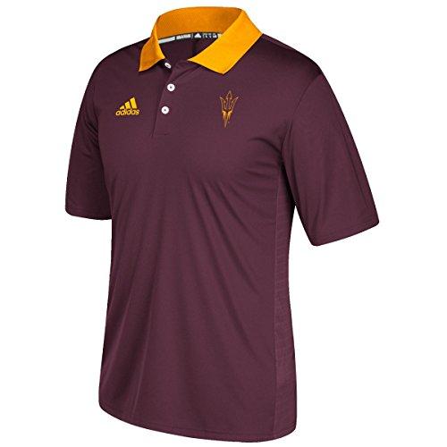 adidas NCAA Arizona State Sun Devils Adult Men NCAA Sideline Coaches Polo, Medium, Maroon