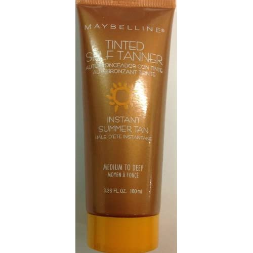 (Pack of 2) Maybelline Tinted Self Tanner Instant Summer Tan (Medium to Deep) 3.38 Fl.oz.