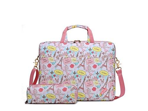 Wesource Outdoor Bags 14 Inch Flower Shockproof Tablet Laptop Bag Handbag Computer Shoulder Bags for Women Good Protecter by Wesource