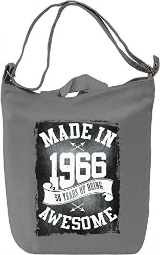 Made In 1966 Borsa Giornaliera Canvas Canvas Day Bag| 100% Premium Cotton Canvas| DTG Printing|