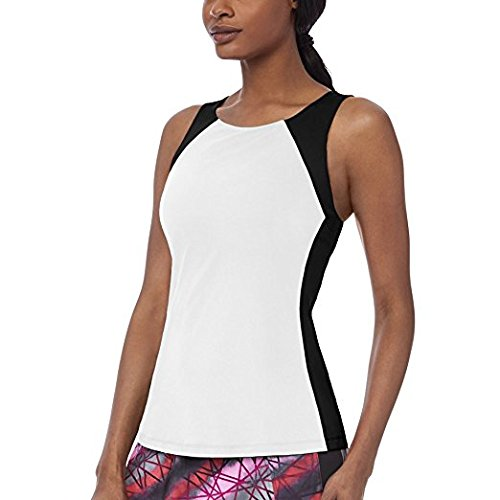 Donna Elegante Racerback Da Bianca Sleek Serbatoio Xl Camicia Fila Nera 7qawUx4O