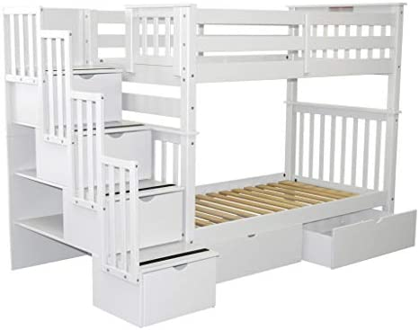 home, kitchen, furniture, bedroom furniture, beds, frames, bases,  beds 5 discount Bedz King Tall Stairway Bunk Beds Twin over promotion