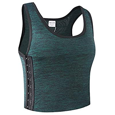 XUJI Women Tomboy Breathable Cotton Elastic Band Colors Chest Binder Tank Top (M-6XL) at Women's Clothing store