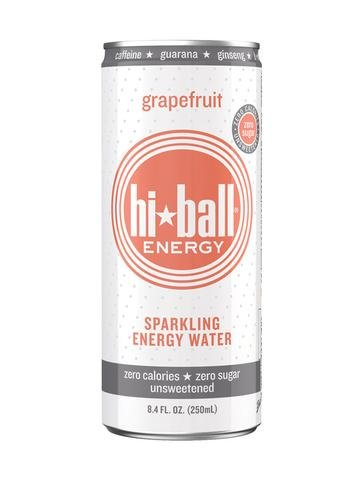 Hiball Sparkling Energy Water Grapefruit 16 oz (Pack of 6)