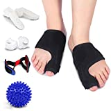 Bunion Corrector and Bunion Relief Kits(8PCS)- for Bunion, Hallux Valgus, Big Toe Joint, Toe Separators Spacers Straighteners Splint with Foot Massage Ball, Day & Night Time Support for Men & Wome