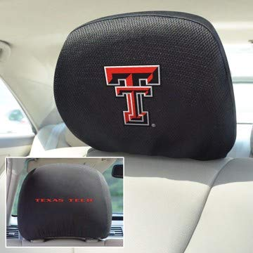 FANMATS - 12598 - FanMats Texas Tech Head Rest Cover 10x13