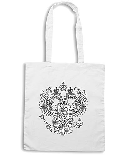 Speed Shirt Borsa Shopper Bianca TM0130 RUSSIA1 CITTA