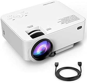 Upgraded DBPOWER T20 LCD Mini Movie Projector +10% Brighter, Multimedia Home Theater Video Projector with HDMI Cable, Support 1080P HDMI USB SD Card ...