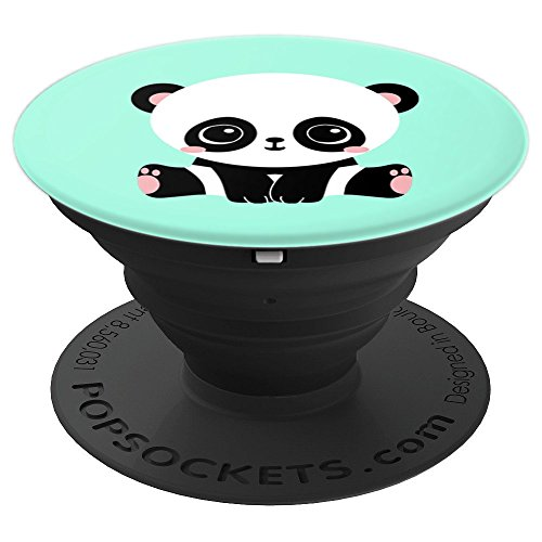 Cute Kawaii Baby Panda Pop Socket Mint Green Animal Lover - PopSockets Grip and Stand for Phones and Tablets