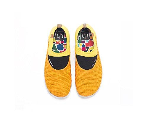Uin Femmes Sintra Tricot Casual Slip Sur Les Chaussures Orange Et Jaune