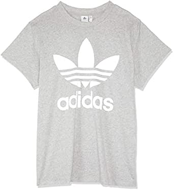 adidas Women's CY4762 Big Trefoil T-Shirt, Medium Grey Heather, 32
