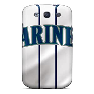 Shockproof Cell-phone Hard Covers For Samsung Galaxy S3 With Custom High-definition Seattle Mariners Pictures VIVIENRowland