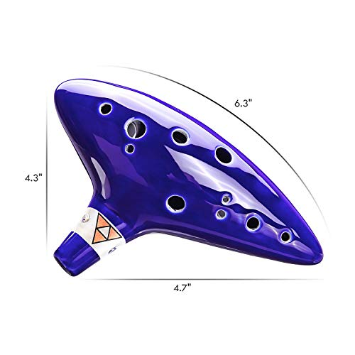 Ohuhu Zelda Ocarina with Song Book (Songs From the Legend of Zelda), 12 Hole Alto C Zelda Ocarinas Play by Link Triforce Gift for Zelda Fans with Display Stand Protective Bag
