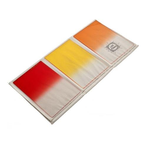 Lee Filters 4x6'' Sunset Resin Filter Set (Graduated - Hard Edge - Sunset Red, Sunset Orange, Sunset Yellow) by Lee