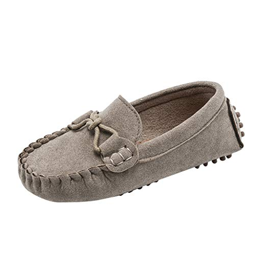 SUNyongsh Children Baby Shoes Boys Girls Kids Loafers Solid Color Soft Bottom Breathable Casual Shoes Khaki