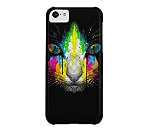 The Neon Pussy Cat iPhone 5c Black Barely There Phone Case - Design By Humans